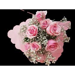 Bouquet Rosas y Gypsophila
